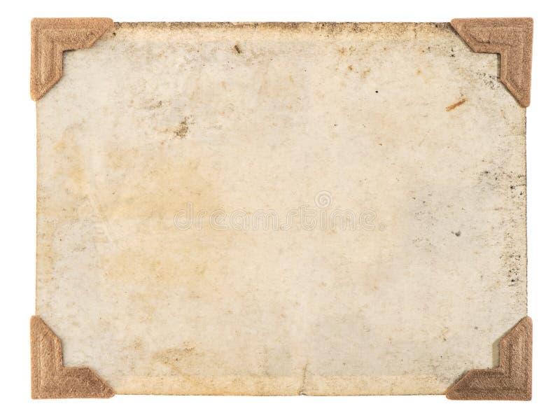 Stara fotografii karty kątów rama odizolowywał białego tło obraz stock
