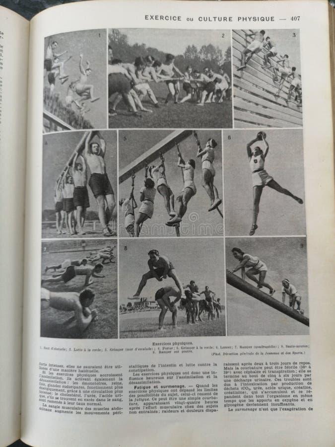 Stara francuska medyczna książka z ilustracjami fotografia stock