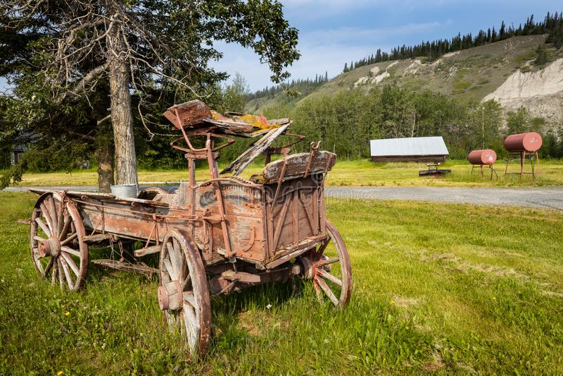 Stara fura w Dzikim Za zachód od Kanada zdjęcia royalty free