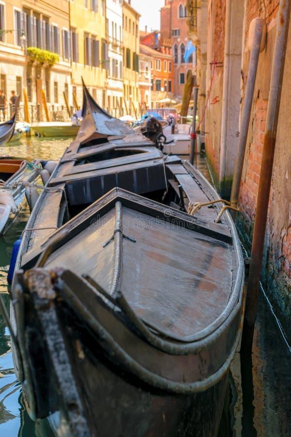 Stara gondola w Wenecja obraz stock