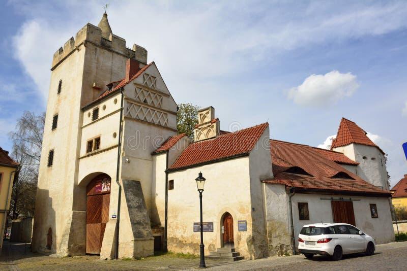 Stara grodzka brama Marientor w Naumburg zdjęcie stock