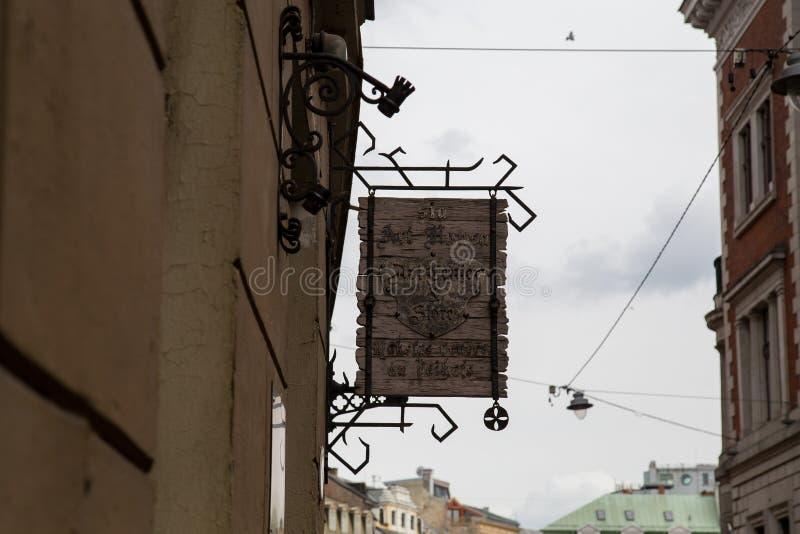 Stara grodzka ulica w Ryskim fotografia royalty free