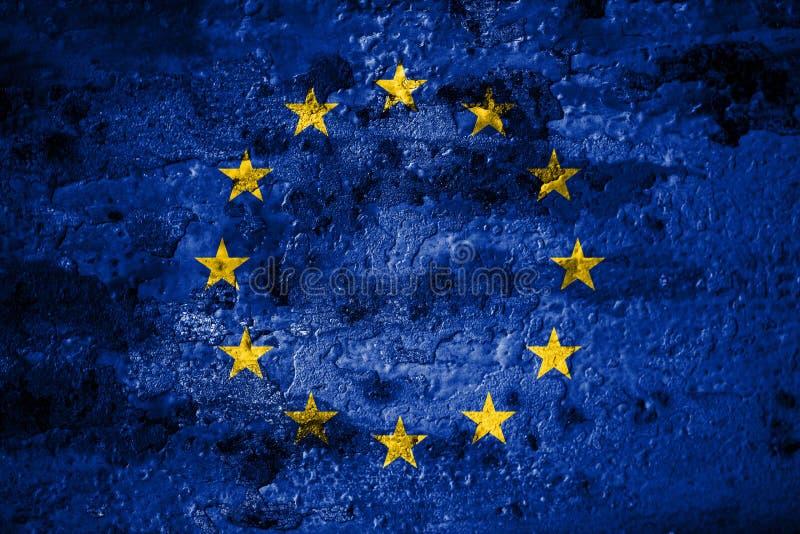 Stara grunge Europejskiego zjednoczenia tła flaga royalty ilustracja