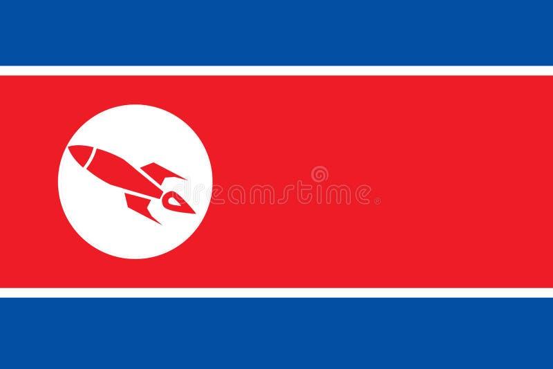 Stara grunge flaga Północny Korea zbroja Wojna niebezpieczeństwo arne pociski obraz stock