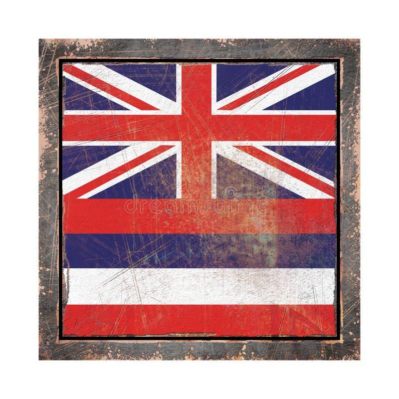 Stara Hawaje flaga ilustracji