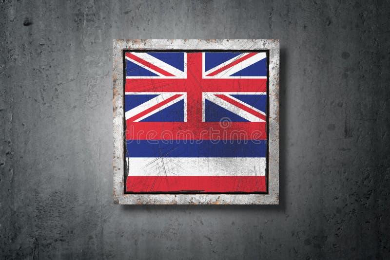 Stara Hawaje stanu flaga ilustracji