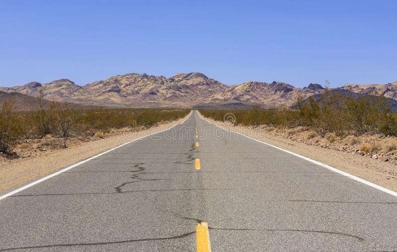 Stara hiszpańszczyzna śladu autostrada, Nevada, usa zdjęcie royalty free