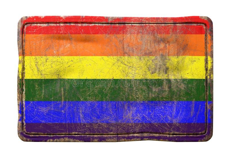 Stara homoseksualista flaga ilustracji