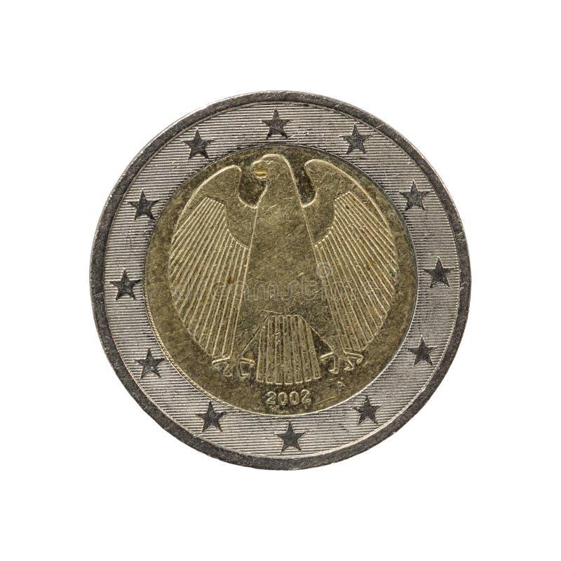 Stara i używać 2 euro moneta fotografia stock