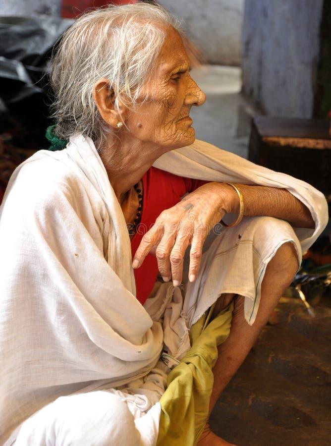 stara indyjska dama fotografia royalty free