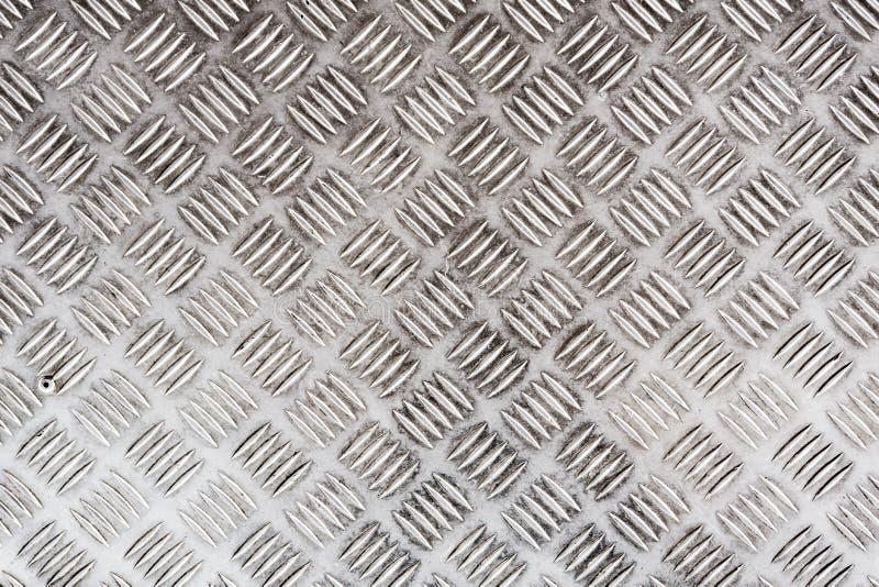 Stara Jeden Prętowa Checker stali nierdzewnej talerza tekstura dla tła fotografia stock