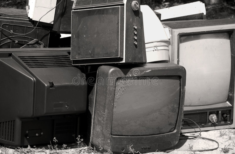 stara jest stack tv obraz stock