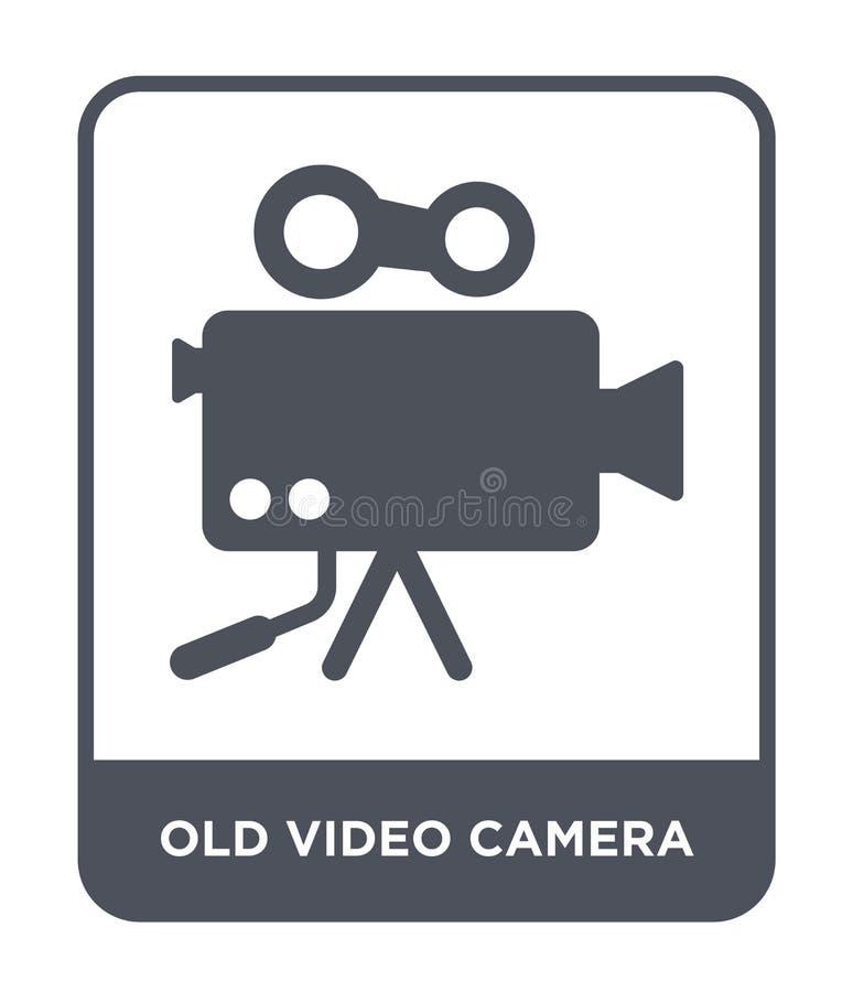 stara kamera wideo ikona w modnym projekta stylu stara kamera wideo ikona odizolowywająca na białym tle stara kamera wideo wektor royalty ilustracja