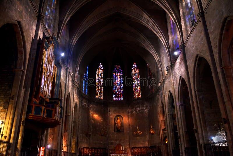 Stara Kamienna Bazylika St Maria Del Pi Barcelona fotografia royalty free