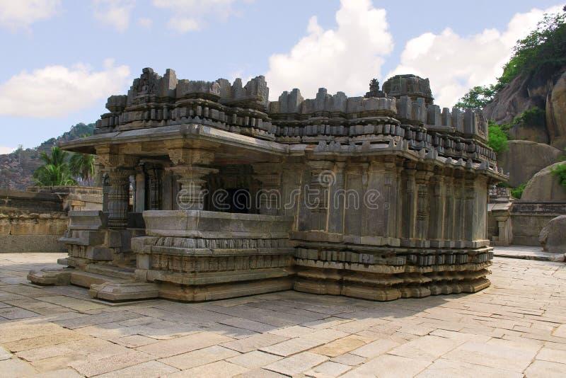 Stara Kannada dotaci inskrypcja, 1182 A d królewiątko Veera Ballala II na prośbę Achiyakka, żona minister Chandramouli, Akka zdjęcie stock