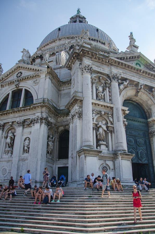 Stara katedra Santa Maria della salut w Wenecja, Włochy zdjęcie royalty free