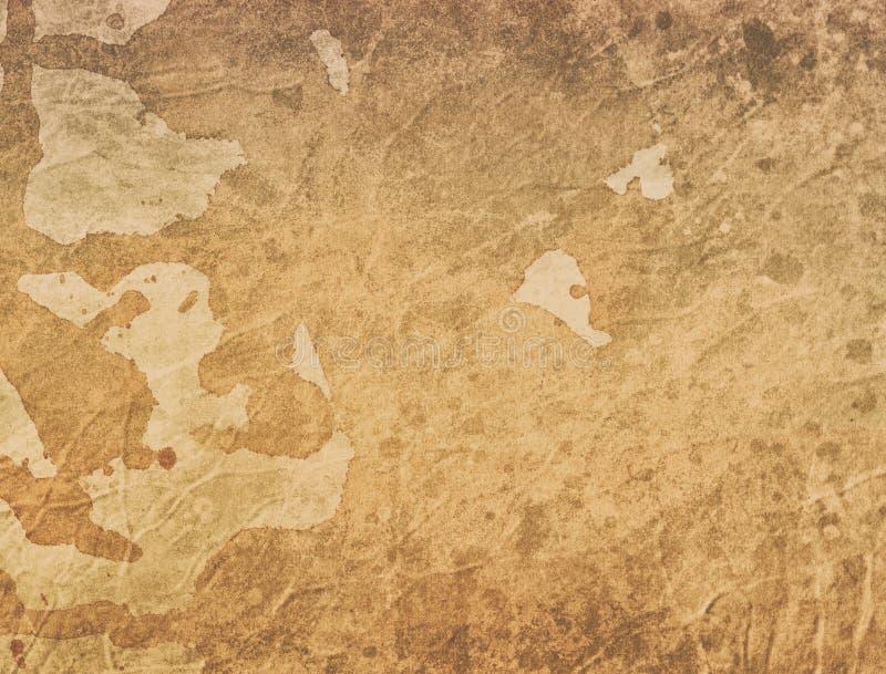 Stara kawa lub herbata plamiliśmy papierową tło ilustrację z teksturą, grunge, rocznik i antyczny pergamin, zdjęcia stock