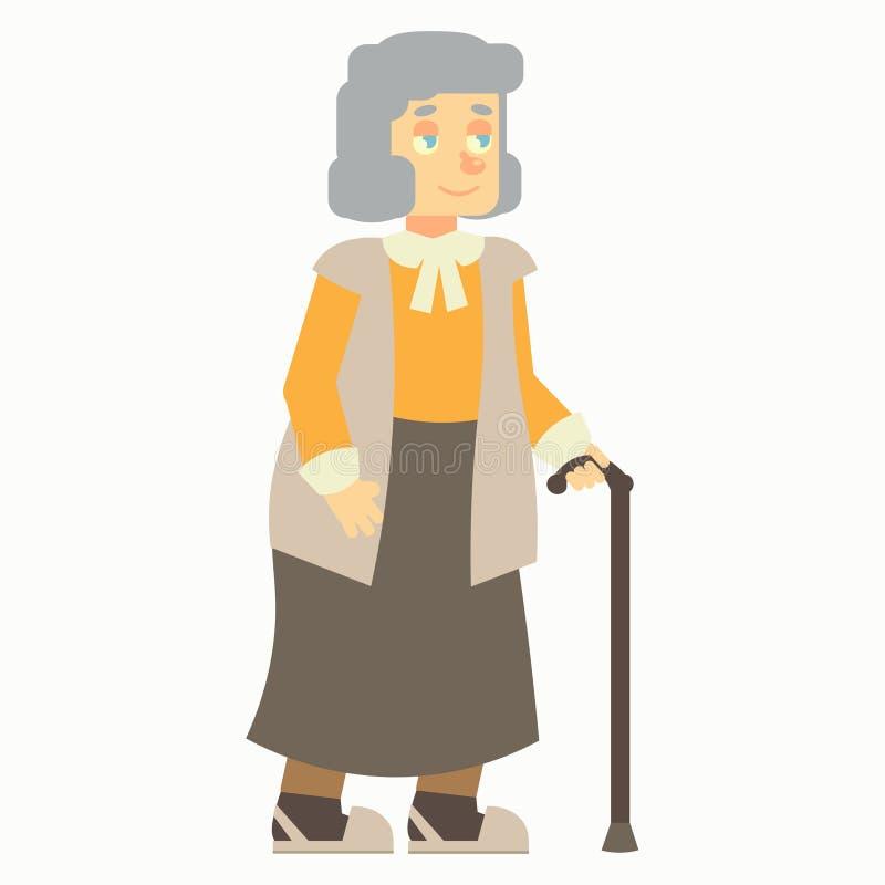 Stara kobieta ilustracja wektor