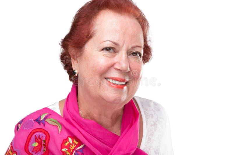 Stara kobieta Z Czerwonym włosy fotografia royalty free