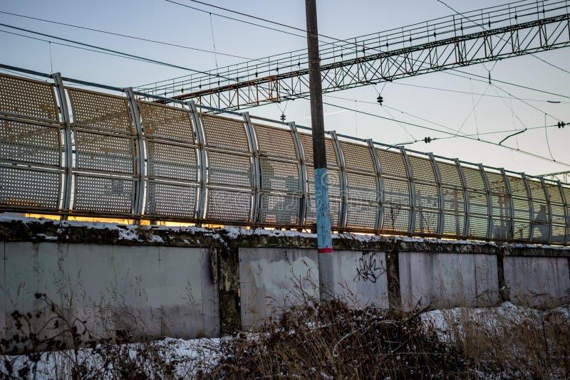 Stara kolejowa platforma, tylni widok obraz royalty free