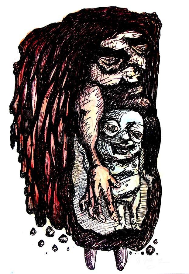 stara kolonel czarownica ilustracja wektor