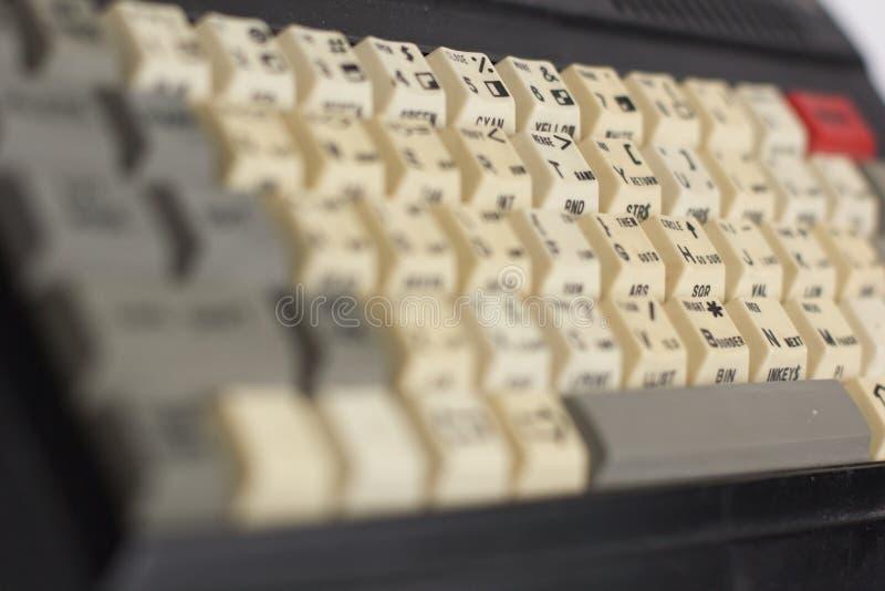 Stara komputerowa klawiatura jako część komputeru obraz stock