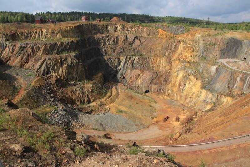 Stara kopalnia miedzi w Falun w Szwecja zdjęcie stock
