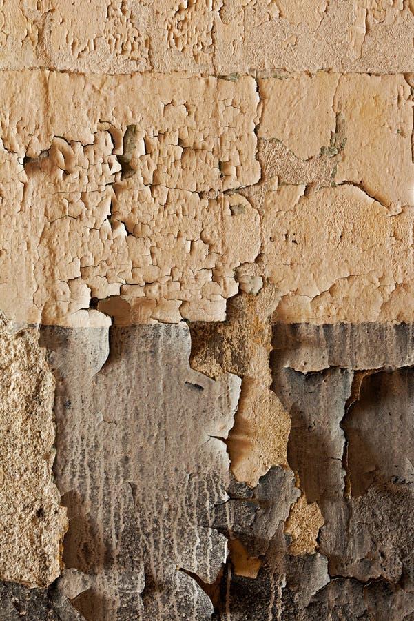 Stara krakingowa i obdrapana ściana zdjęcia stock