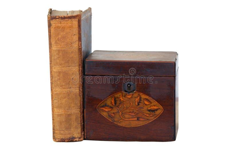 Stara książka i pudełko fotografia royalty free