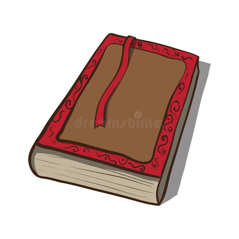 Stara książka. Wektorowa ikona. Ręka rysująca ilustracja ilustracji