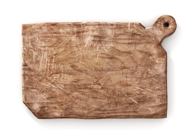 Stara kucharz deska Rocznik tnąca deska na białym tle 3d royalty ilustracja