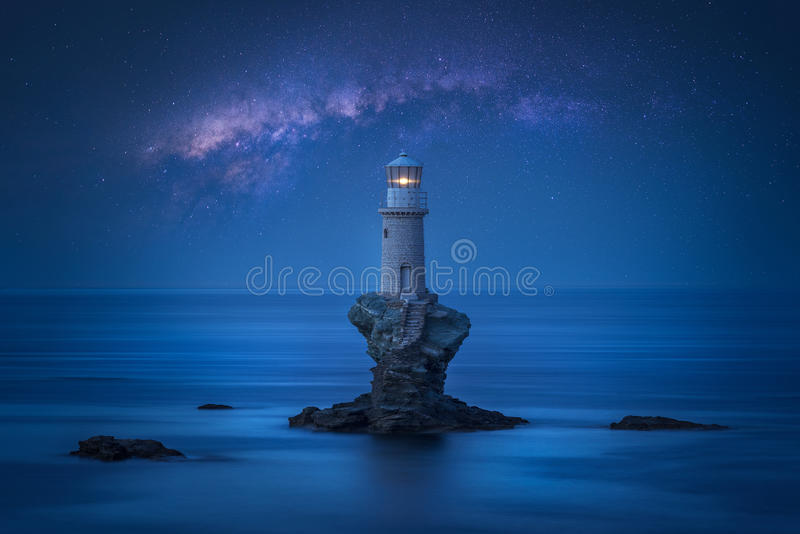stara latarnia morska fotografia royalty free