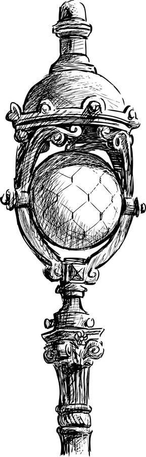 Stara latarnia uliczna royalty ilustracja