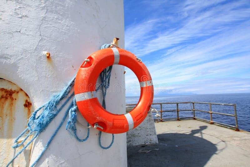 stara lifebelt latarnia morska obraz stock