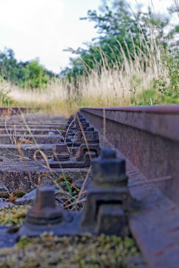 stara linia kolejowa zdjęcie royalty free