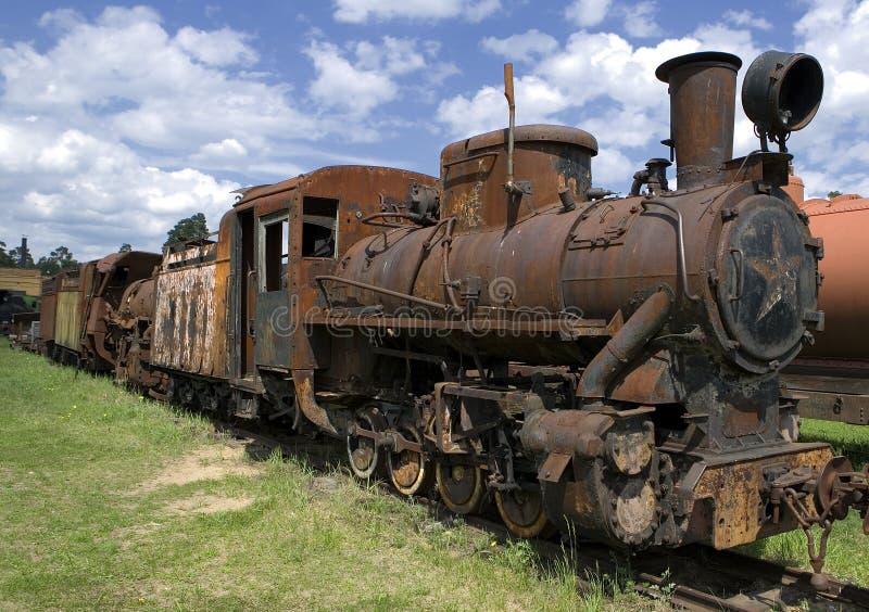 stara lokomotoryczna zardzewiała pary obraz royalty free