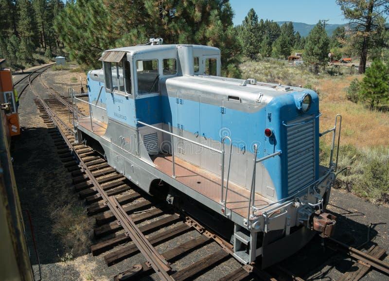 Stara lokomotywa, Quincy linia kolejowa fotografia stock
