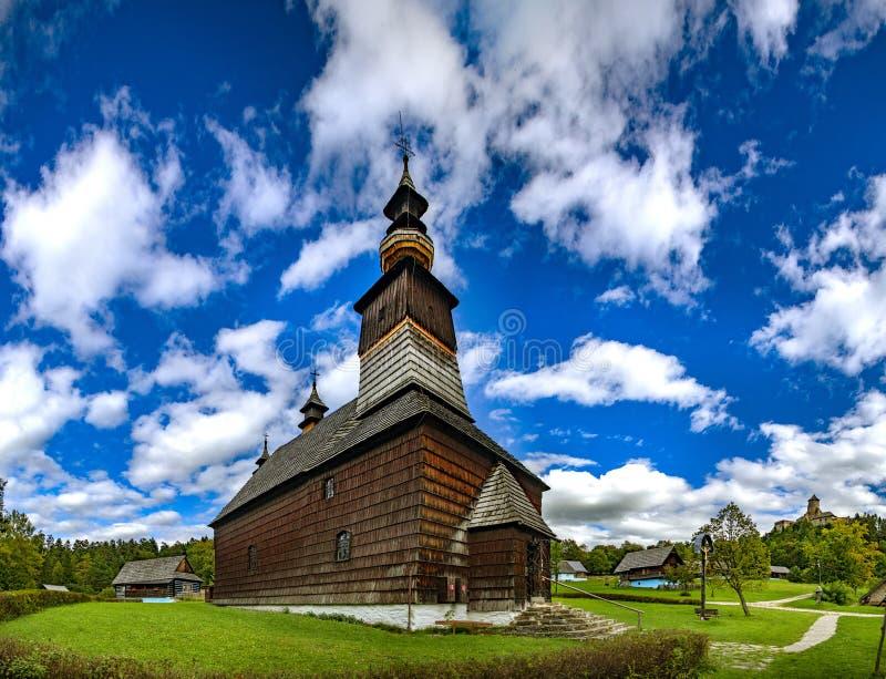Stara Lubovna - под открытым небом фольклорный музей, Словакия стоковое фото rf
