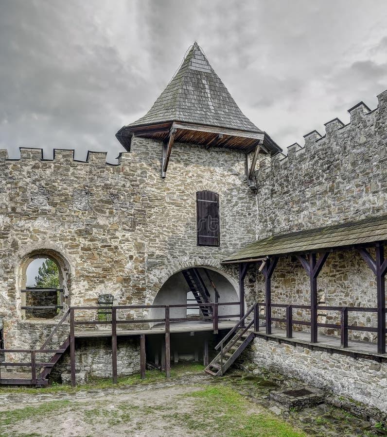 Stara Lubovna - slott i Slovakien royaltyfria bilder