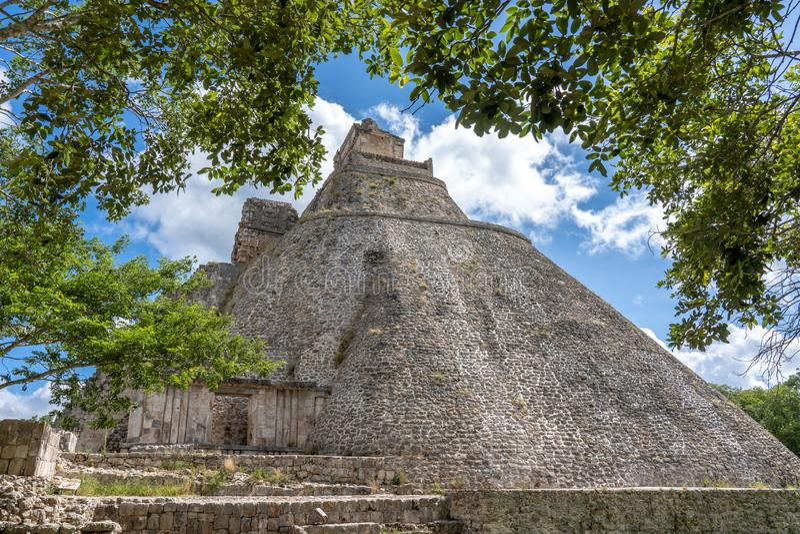 Stara majska świątynia blisko ciry Uxmal Jukatan Meksyk, fotografia stock