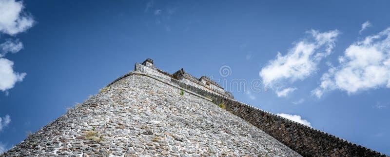 Stara majska świątynia blisko ciry Uxmal Jukatan Meksyk obraz stock