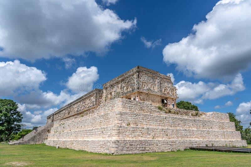 Stara majska świątynia blisko ciry Uxmal Jukatan Meksyk fotografia stock