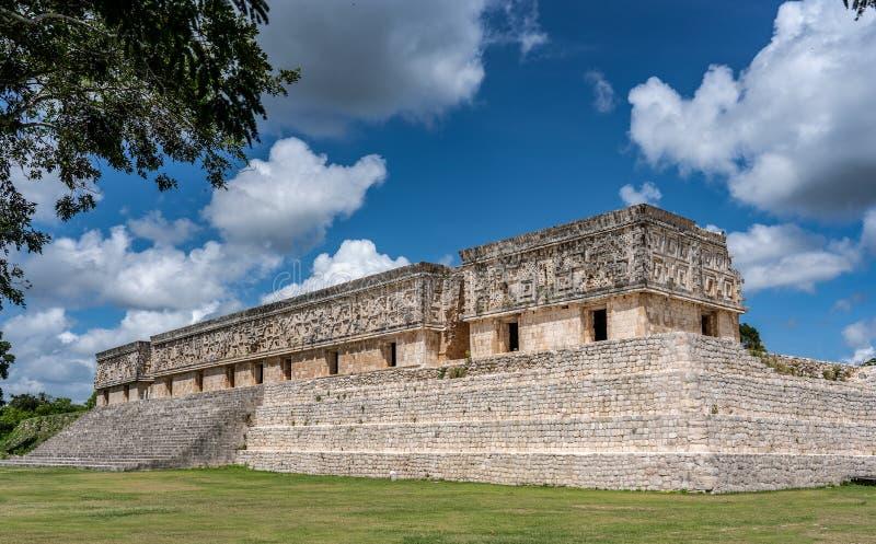Stara majska świątynia blisko ciry Uxmal Jukatan Meksyk obrazy stock