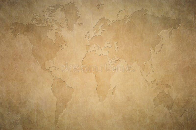 stara mapa świata zdjęcia stock