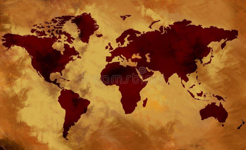 stara mapa świata ilustracja wektor