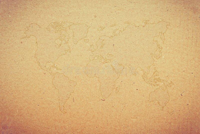 stara mapa świata zdjęcie stock