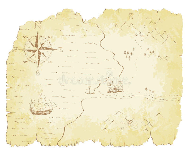 Stara mapa ilustracji