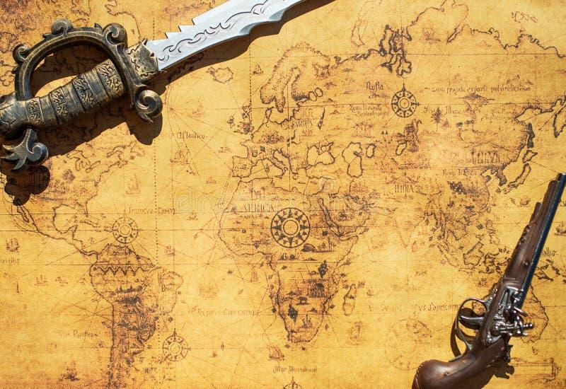 stara mapa skarbu zdjęcie stock
