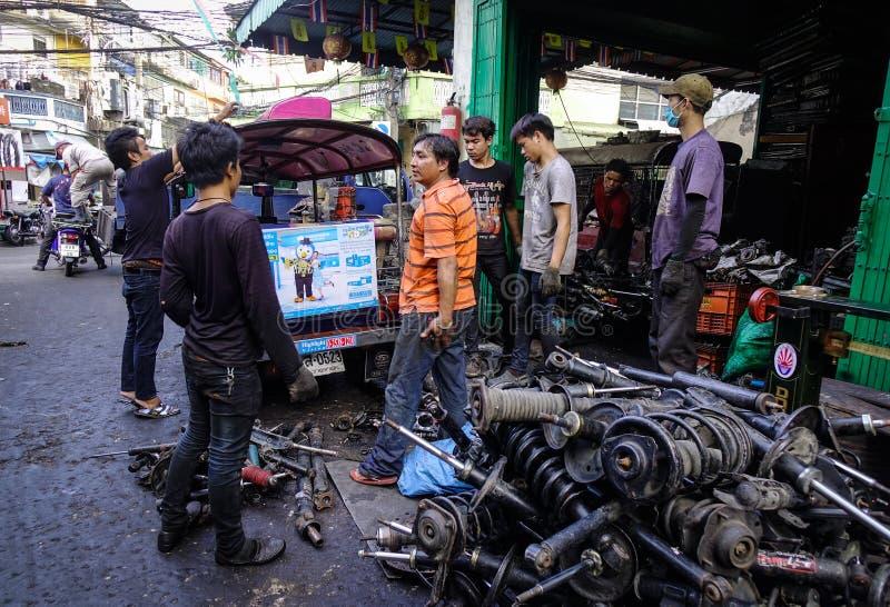 Stara Maszynowego narzędzia fabryka w Bangkok, Tajlandia zdjęcia stock