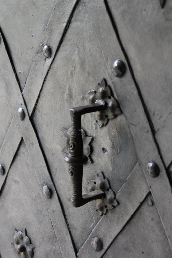 Stara metal powierzchnia z doorhandle 7934 zdjęcia stock